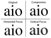 a látásromlás kezelése funkció