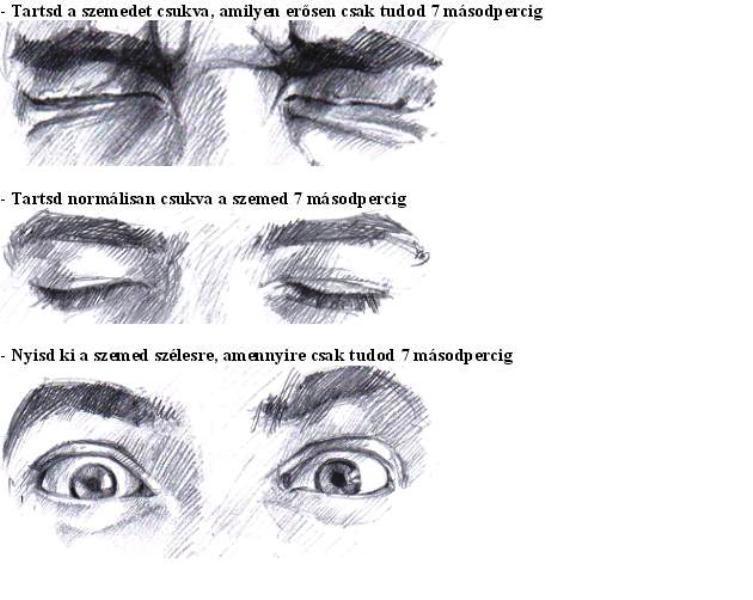 Gyakorlatok a látás növelésére