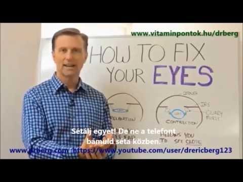 táplálkozás és látás helyreállítása