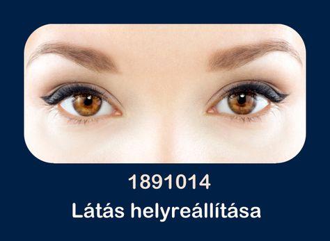 szemvizsgálat a számokon látás fekete szemek