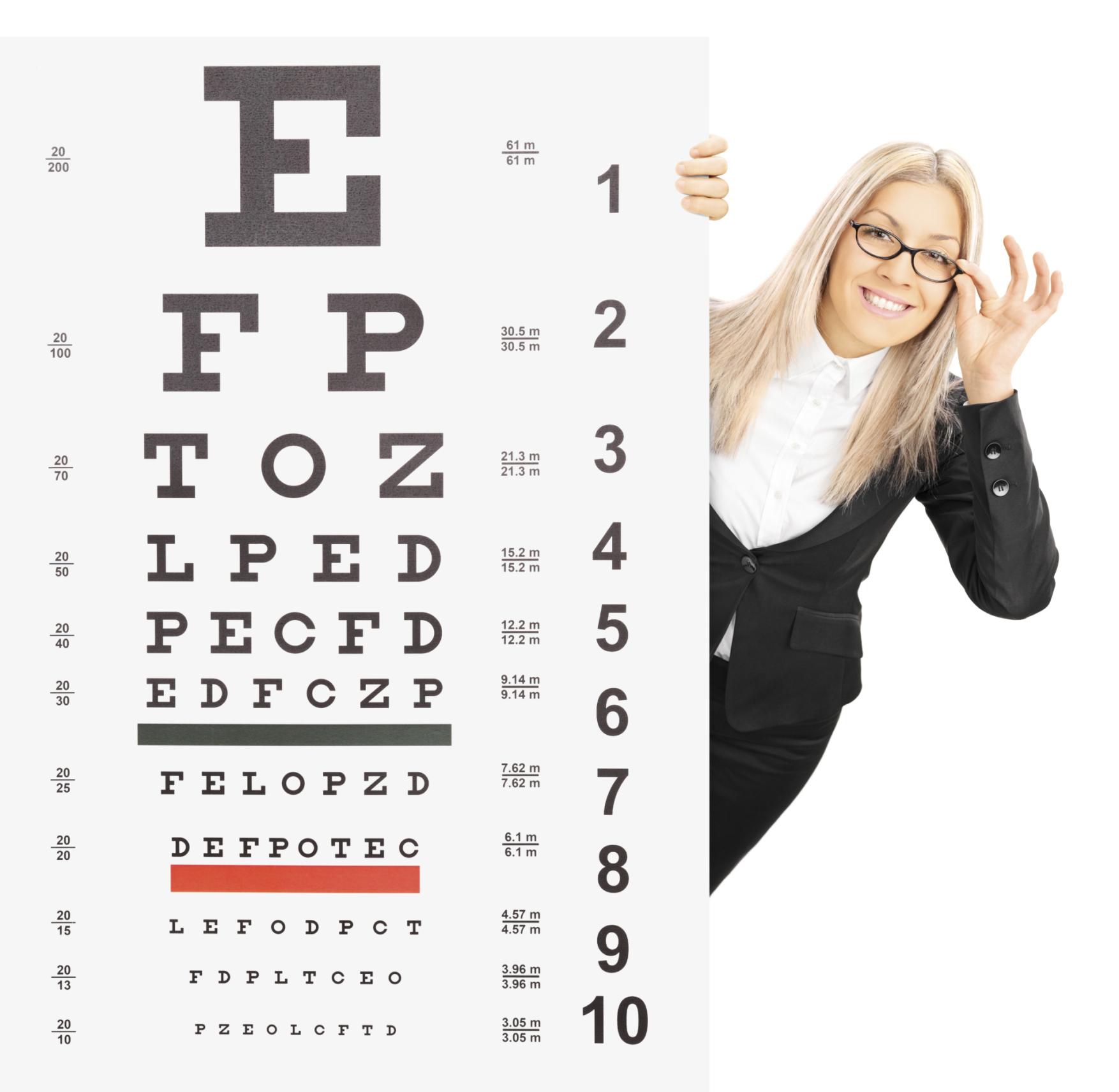 apró betűkkel a látás tesztelésére