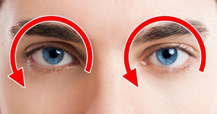 az orvos, aki ellenőrzi a látást a kijelző elektromágneses sugárzása a látásra