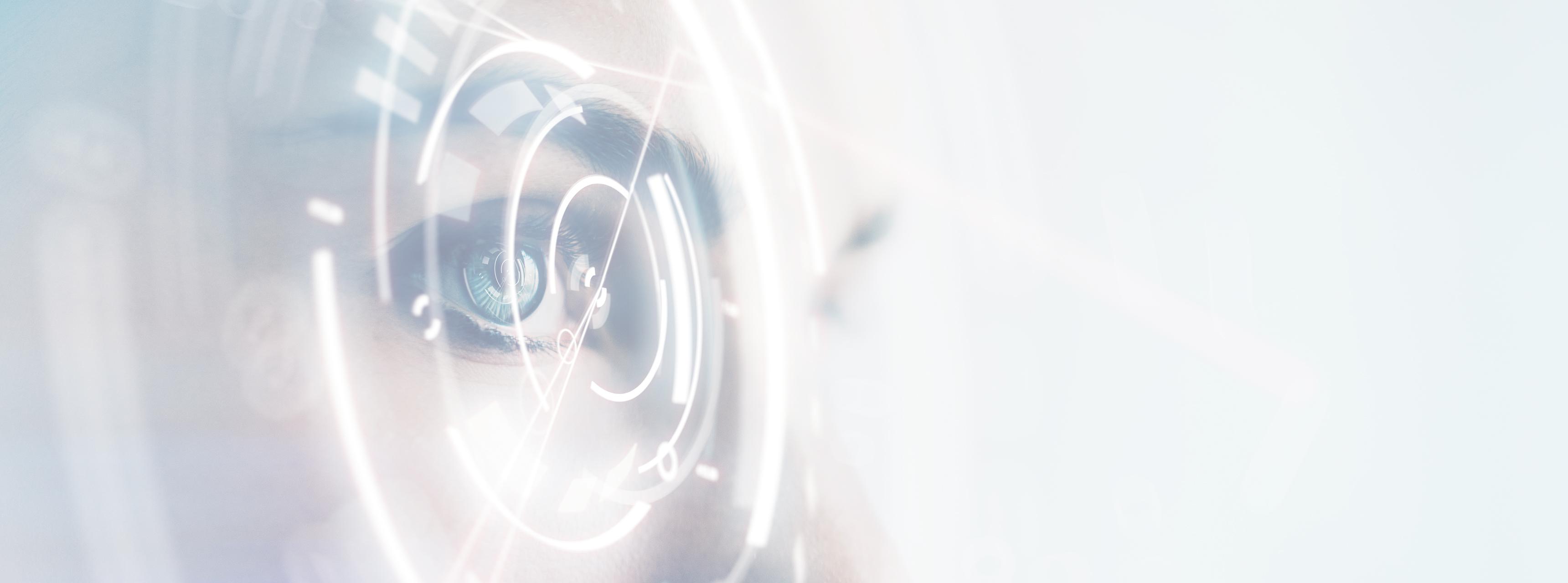 A szemvizsgálat szenilis szürkehályog - stock kép