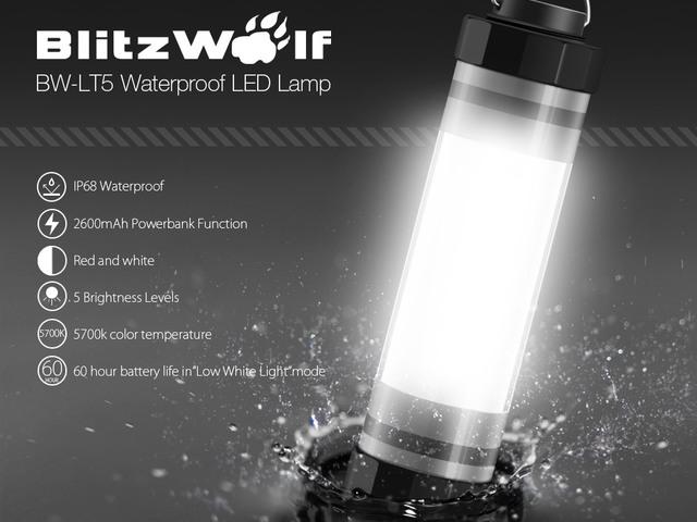 Blitzwolf BW-LT5 kemping, vészhelyzeti lámpa teszt - Vízálló királyság - RendeljKínait