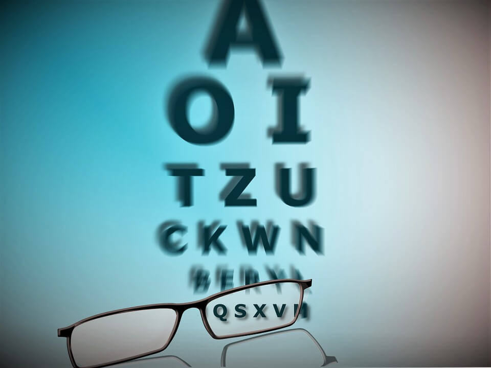 betűk látásvizsgálaton