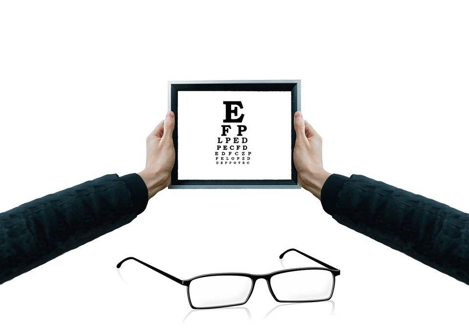Az optometrista általi szemvizsgálathoz használt betűk mérete