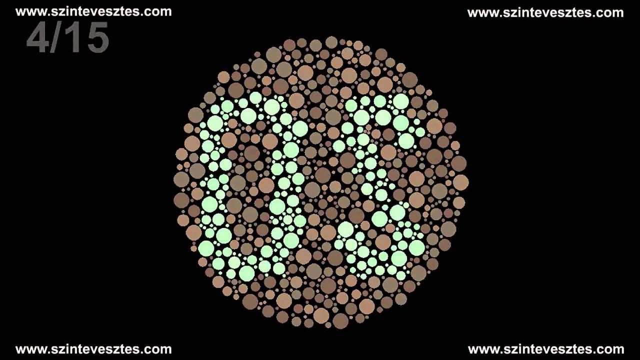 színvakság-teszt diagramok
