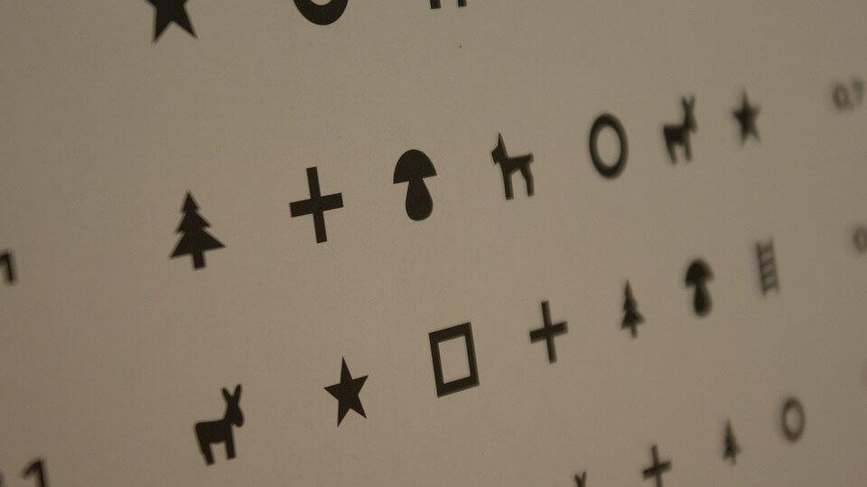 A látásélesség-vizsgálat - Látásvizsgálati táblázat valós mérete