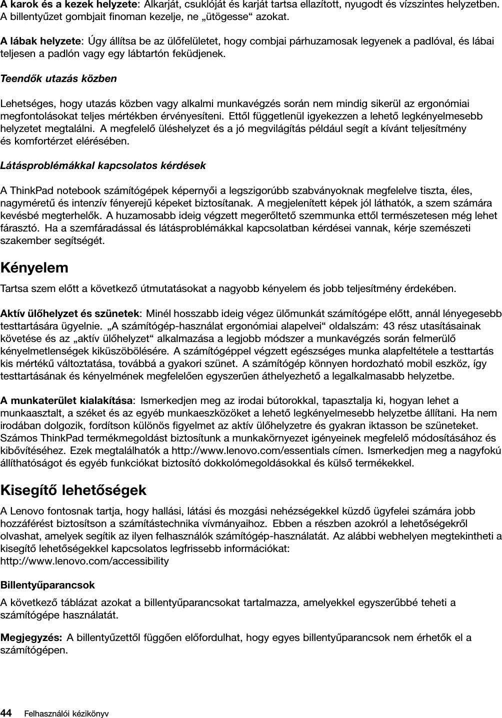 a látással kapcsolatos alapvető információk táblázata